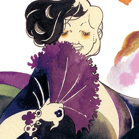 金魚鉢婦人
