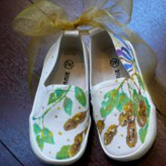 落花生の靴